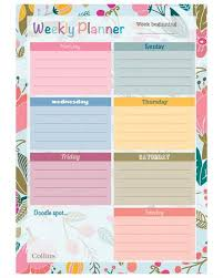Weekly Desk Pad Collins Fashion Desk Planner Enchanted Style A4 Fashion Weekly