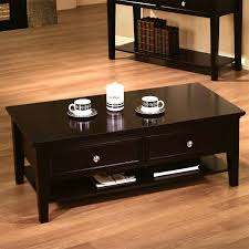 Round Dark Wood Coffee Table - coffee table center table with drawers dark brown coffee table