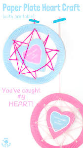 you u0027ve caught my heart paper plate heart craft with printable