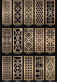 Decorative paneling spaces traditional with decorative metal