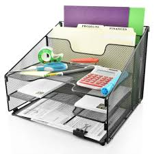 all in one desk organizer desk organizer file holder all in one with non slip pads by desk wiz