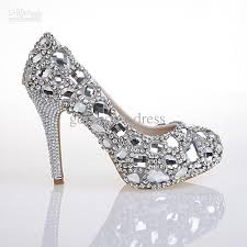 hand design top white diamond crystal shoes high diamond shoes for