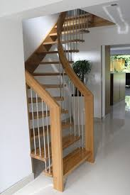 Staircase Design Ideas Alluring Design Ideas Of Small Space Staircase With Brown Wooden