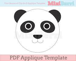panda cake template panda applique template pdf