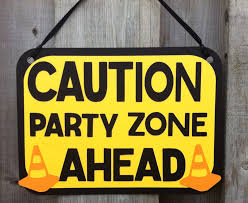 construction birthday party construction theme party sign caution sign construction