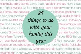 Things To Do With Your Family On The 85 Things To Do With Your Family This Year The Diary Of A