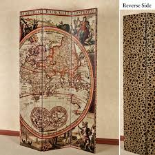 explore world reversible folding screen room divider