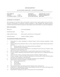 Accounts Payable Job Description Resume by 100 Best Resume For Accounting Job Manufacturing Engineer