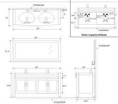 Double Vanity Size Standard Bathroom Vanity Cabinet Dimensions Tsc