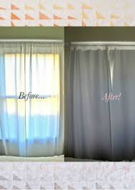 Sewing Curtains With Lining Easy No Sew Diy Blackout Curtains How Fantastic