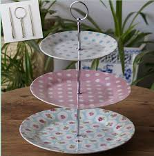 cheap cake stand 2018 3 tiers style cake stand rods ceramic fruit tray metal
