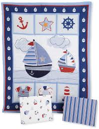amazon com bedtime originals sail away 3 piece bedding set blue