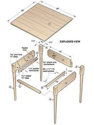 Free Woodworking Plans Dining Room Table by 677 Best Plans For Wood Furniture Images On Pinterest Wood