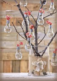 we got married outside and i made these hanging light bulb vases
