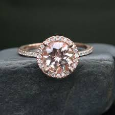 circle wedding rings 14k gold 7mm morganite single from twoperidotbirds on