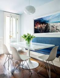dining room with banquette seating house tour charming and sophisticated victorian rowhouse