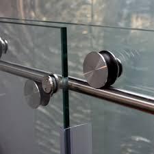Shower Sliding Door Hardware Skyline Series Sky 3 8 Glass Three 1 Inch Rollers Frameless