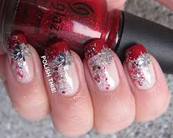 christmas french nail art by annie nailpolis museum of nail art