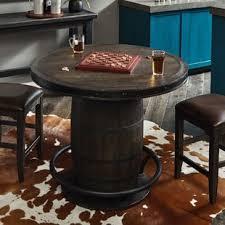 whiskey barrel bar table whiskey barrel pub table wayfair