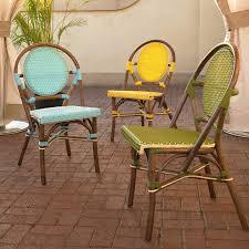 Green Bistro Chairs Paris Bistro Chair Brown Rattan Frame Green Set Of 2 Dcg Stores