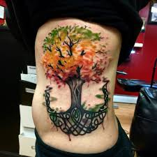 watercolor celtic tree of stuff