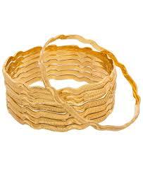 Buy Designer Gold Plated Golden Buy Fine Golden Bangles Aprk5990 At 14 23 Aud