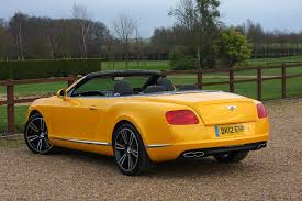 bentley yellow bentley continental gt gtc convertible 2011 buying and