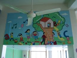 school kids classroom wall murals play school wall painting mumbai