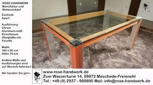 Esszimmertisch Glas Chrom Esstisch Holz Und Glas Simple Designer Tisch Wohnzimmer