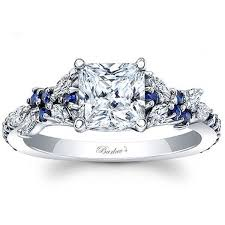 engagement rings sapphire images Barkev 39 s 14k white gold blue sapphire encrusted quot petal quot diamond ring jpg