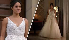 in wedding dress meghan markle engagement prince harry s tries on