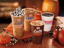 dunkin donuts fall pumpkin products are in stores today so goodbye