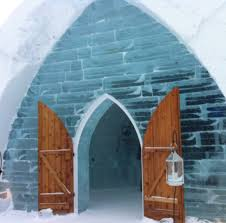 hotel de glace quebec city quebec front door of the ice hotel