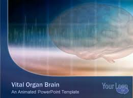 templates for powerpoint brain vital organ powerpoint template with brain scan animation