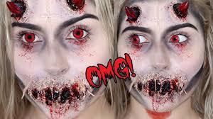 possessed demon or devil sfx halloween makeup tutorial youtube