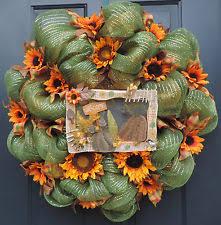 Sunflower Mesh Wreath Deco Mesh Floral Décor Ebay