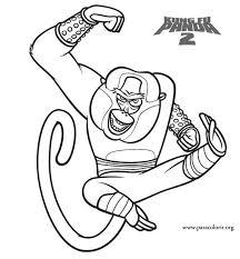 kung fu panda master monkey kung fu panda 2 coloring