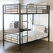 Metal Bunk Bed Frame Walker Edison Metal Bunk Bed Black