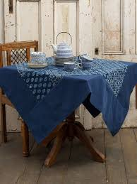 indigo tablecloth attic sale linens kitchen attic beautiful