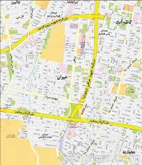 Tehran Map Tehran Map نقشه تهران جدیدترین نقشه تهران جزئیات نقشه تهران نقشه