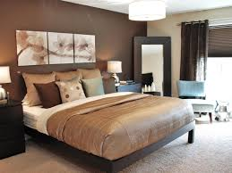 gorgeous chocolate brown master bedroom with dark storage fluffy