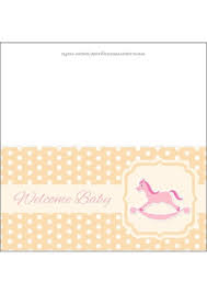baby shower paper baby shower greeting card with rocking for a girl free