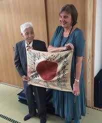 Japan War Flag Couple Reunites Japanese World War Ii Veteran With Flag Lost For