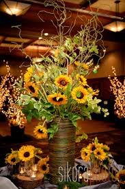 sunflower wedding decorations affordable fall arrangements with eeffbcefe sunflower wedding