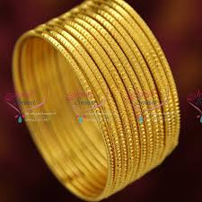 gold set for marriage b3739x 2 10 size gold plated 12 pieces bangles set party wear