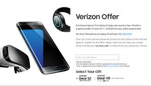 target verizon deal samsung s7 for black friday samsung galaxy s7 s7 edge buyers can now claim their free gear vr