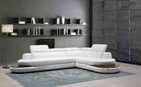 Leather Sectional Sofa by Casa Killian Modern White Italian Leather Sectional Sofa