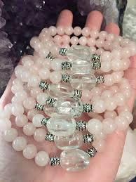 rose quartz crystal bracelet images Rose quartz bracelet quartz crystal bracelet bridesmaid gift jpg