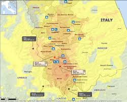 Italy On Map by Series Of Destructive Earthquakes Hit Italy Over 220 Aftershocks