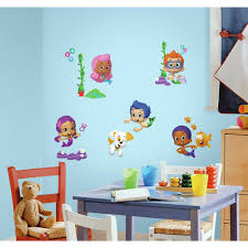 bubble guppies peel and stick wall decals walmart com